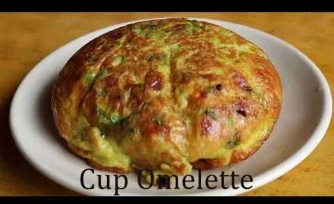 Fluffy cup omlette-karandi omlette-egg omlet recipe-nisha madhulika recipe-indian food