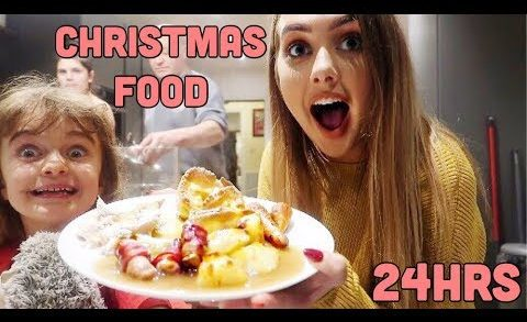 I ONLY ate CHRISTMAS FOOD for 24HOURS!!