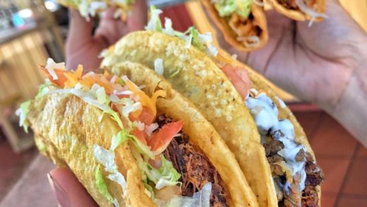 It ain't a real TACO TUESDAY unless you've got some hard shell TACOS in the mix. Hard shell or soft tacos?! : (Carne Asada, Al Pastor and Potato Tacos). :  ⠀ ——————————————— ⠀                              ...