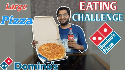 LARGE DOMINO'S PIZZA EATING CHALLENGE | Domino's Large Pizza Eating Competition | Food Challenge