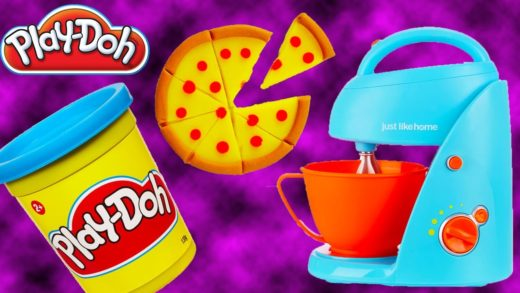 LEARN HOW TO BAKE Pizza w/ Kitchen Tools Toy Set and Play Doh