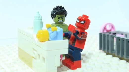 Lego Spider-man Brick Building Pizza Oven and Delivery Superheroes Animation for children