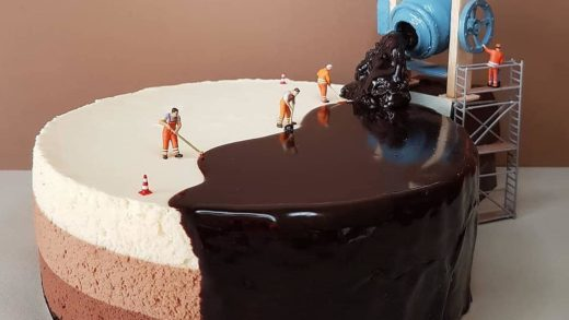 Little Workers Glazing up a Triple Chocolate Cake  Behind the scenes secret of Cakes.  Tag your  friends.  By   .  ...