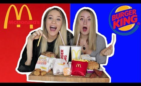 MCD VS BURGERKING (Ft. Rebecca Charlotte Dahl)