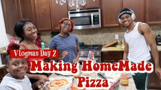 Making HomeMade Pizza & Grocery Shopping | Vlogmas Day 2