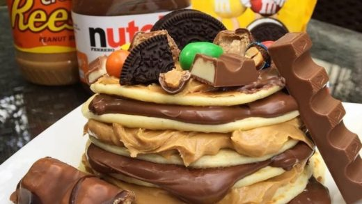 Nutella and Peanut Butter Pancakes!  By:                               ...