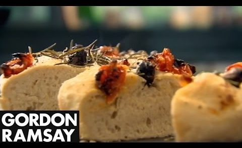 Olive, Rosemary and Tomato Focaccia - Gordon Ramsay