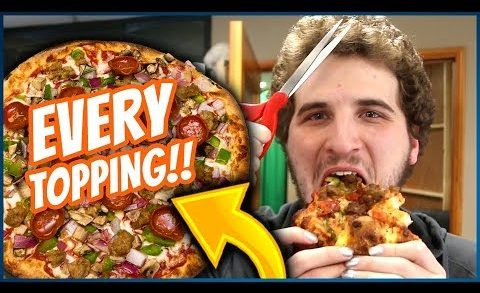 PUTTING EVERY TOPPING ON A DOMINOS PIZZA!