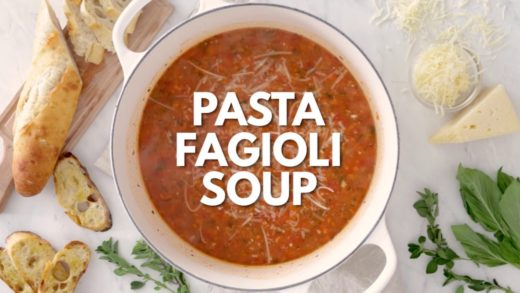 Pasta Fagioli Soup Recipe (Pasta and Beans)