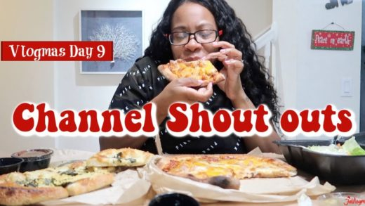 Pizza | Cheese Sticks And Salad Mukbang + Channel Shout Outs | Vlogmas Day 9