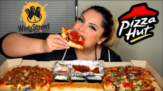 Pizza Hut Wing Street Mukbang | Eating Show