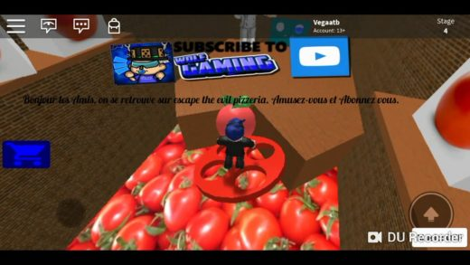 Roblox!!! Quel pizza degoutant (Escape the evil pizzeria).