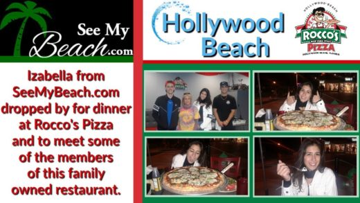 SeeMyBeach.com visits Rocco's Pizza and has dinner and meets the family!