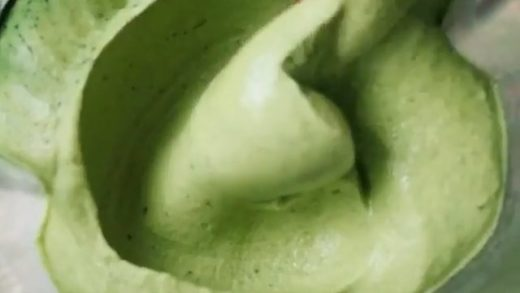Spirulina Nice Cream by   . (serves 2) - 4 frozen bananas (chop them before blending) - 2 cups frozen mango - 1/3 cup plant milk - 2 tsp spirulina powder Directions: blend until smooth using a high speed blender either a tamper or a food processor.  . Musi...