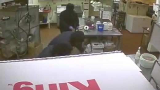 Surveillance video from Pizza King Robbery in Cumberland