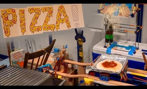 THE PIZZA MACHINE! (Pizza Making Rube Goldberg Machine)