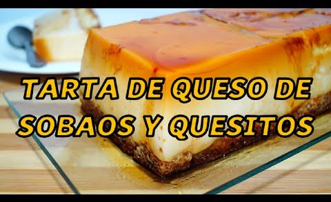 Tarta de queso de sobaos y quesitos