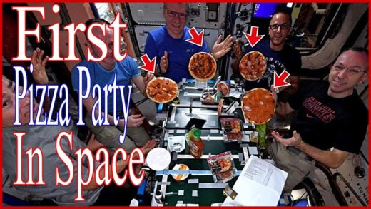 This Day In History December 3, 2017, First Pizza Party In Space