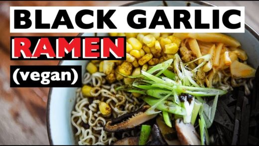 VEGAN RAMEN RECIPE | HOW TO MAKE VEGAN TONKOTSU BLACK BROTH ビーガンラーメン