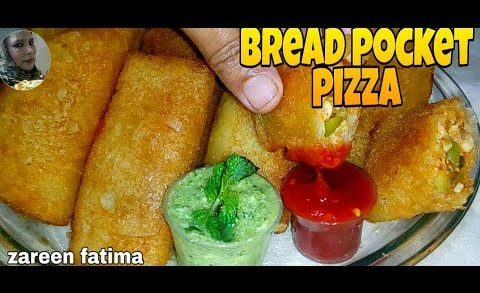 bread poaket pizza/bread poaket chicken pizza/chicken Bread Parcel with zareen fatima