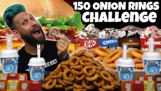 150 ONION RINGS BURGER KING CHALLENGE con rinforzo di 4 KING FUSION - MAN VS FOOD