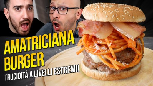 AMATRICIANA BURGER: PASTA all'AMATRICIANA DENTRO ad un HAMBURGER!