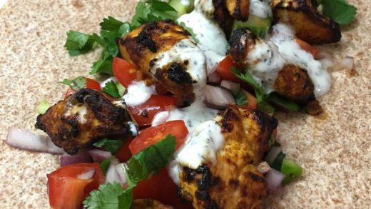 Double tap is this homemade chicken tikka wrap is a bit of you          ...