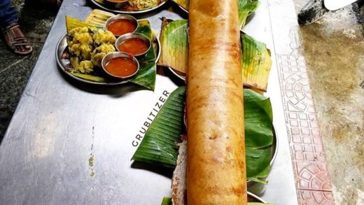 I am not that hungry, I'll just have one Dosa!!  . It's the popular 4ft Long Masala Dosa served with Aloo masala, sambar & chutney!   R K Dosa Camp, Wilson garden, Bengaluru  by  . Tag your friends & plan a Dosa trip! . .                           ...