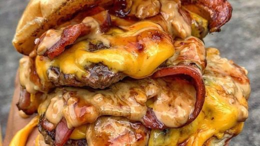 Messy Juicy Bacon Cheeseburger  :   Tag A Friend That Would Dig This!  Follow   Follow    &  All rights and credit reserved to the respective owner(s)  Post your best food pics with  ...