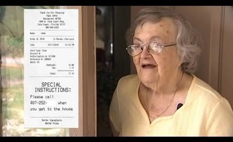 Pizza delivery to check on grandmother