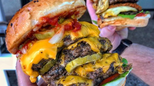 Similar to the age old debate of bears doing their business in the woods, if you eat a burger and it wasn't a triple, did you actually eat a burger? . . Ol mate  and I both say no. . .   , Fortitude Valley  Triple Taurus Special, Triple Beefy  . .    . .  ...