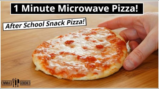 1 Minute MICROWAVE PIZZA ! The EASIEST 1 minute Pizza Recipe!
