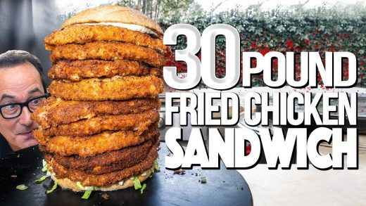 30 POUND FRIED CHICKEN SANDWICH (3 MILLION SUBSCRIBER SPECIAL)   SAM THE COOKING GUY