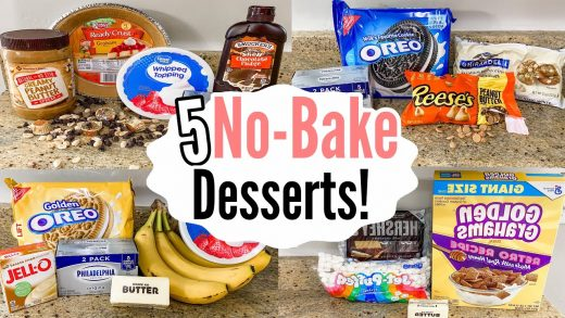 5 NO-BAKE DESSERTS   The EASIEST Tasty Summer Recipes   Julia Pacheco