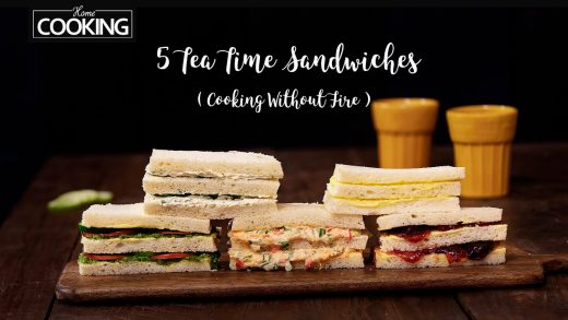 5 Tea Time Sandwiches | Sandwich Recipe | Cooking Without Fire | Vegetable Sandwich | Bread Recipes
