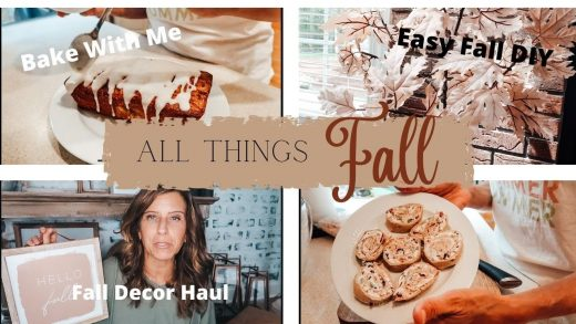 ALL THINGS FALL!! | FALL DIYs, FALL HOME DECOR HAUL, AND FALL COOK AND BAKE WITH ME!