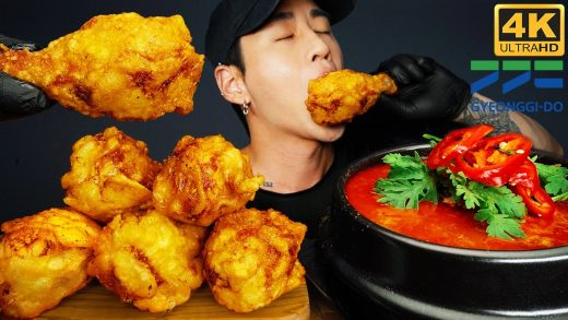 ASMR FRIED CHICKEN & SPICY SEAFOOD SOUP MUKBANG 먹방 | COOKING & EATING SOUNDS | Zach Choi ASMR