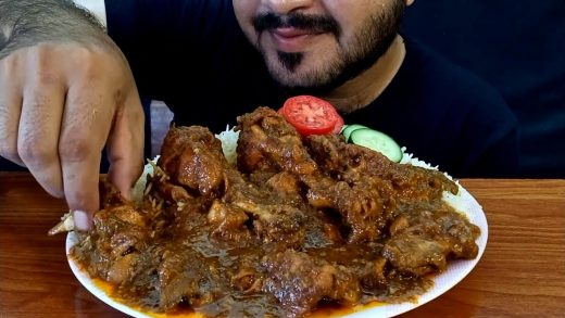 ASMR:EATING SPICY CHICKEN CURRY WITH RICE+SALAD *EATING SHOW* REAL MUKBANG(NO TALKING)