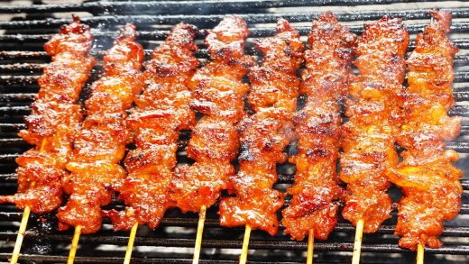 Amazing Beef Barbecue, Trying Grilled Beef At Street, Cambodian Street Food 2