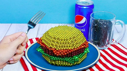 Amazing Satisfying And Relax With Magnet Balls   The Best Burger In NYC : ASMR DIY & Cooking Sounds