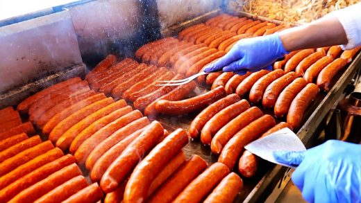 American Street Food - The BEST HOT DOGS in Chicago! Jim's Original Sausages, Burgers, Pork Chops