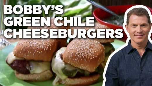 Bobby Flay's Green Chile Cheeseburgers | Grill It! with Bobby Flay | Food Network