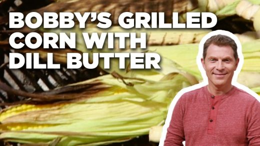 Bobby Flay's Grilled Corn on the Cob with Dill Butter   Boy Meets Grill   Food Network