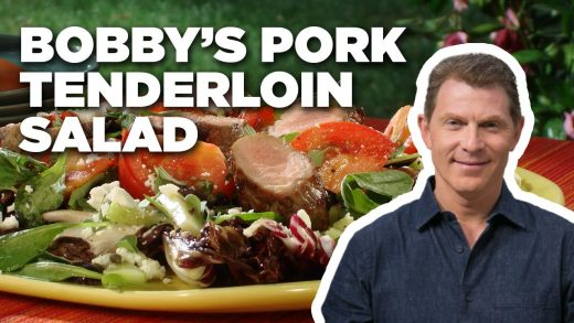 Bobby Flay's Grilled Pork Tenderloin Salad | Grill It! with Bobby Flay | Food Network