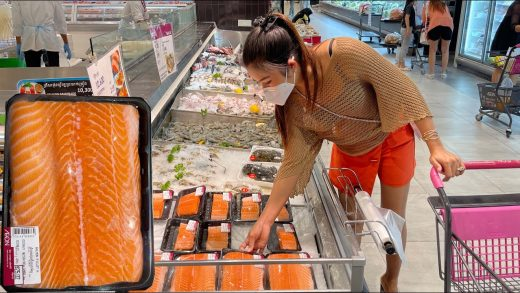 Buy Salmon fish from the market for cooking / Salmon fish salad recipe / By Countryside Life TV