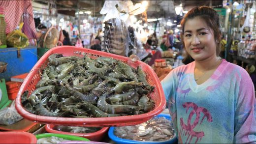 Buy Shrimps To Make Corn Salad / Market Show / Prepare By Countryside Life TV