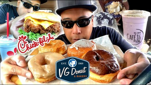CHEAT DAY FOOD ADVENTURES #72 | CHICK FIL A | VG DONUTS | CAFE 86