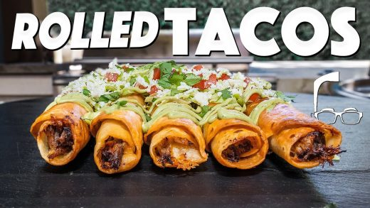 CHEESY JUICY BEEFY ROLLED TACOS AT HOME...WOW!   SAM THE COOKING GUY