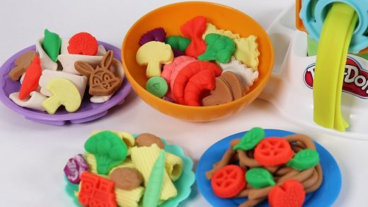 COOKING with Kitchen Toys and PlayDoh for Children | Cooking PASTA Fun Shapes! 장난감 주방놀이 요리놀이 #32