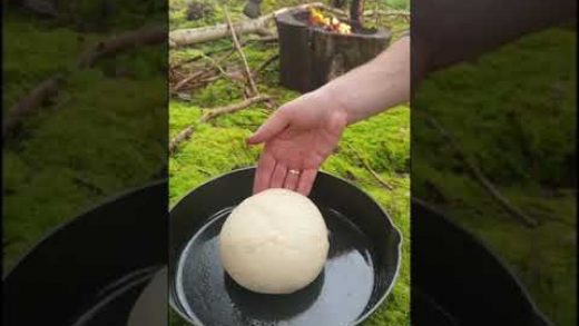 Camp Fire BREAD‼️how to make it😎 #learnontiktok #menwiththepot #cooking #food #foodporn #asmr #fyp
